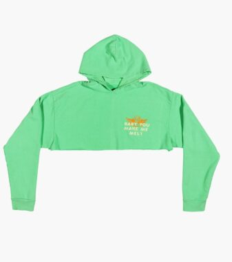 Baby you make me melt cropped hoodie