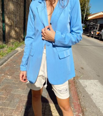 Elegant blue jacket