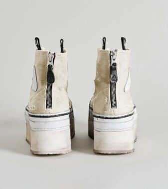 Platform High Top Sneakers – Ecru